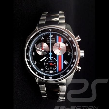 Montre Porsche Chronographe Sport Martini Racing Noir / Acier Porsche WAP0700710LMRC Watch Uhr