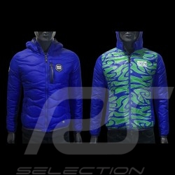 Veste Jacket Jacke Porsche Martini Racing Collection 917 Réversible matelassée Bleu cobalt / Vert  WAP558LMRH - femme
