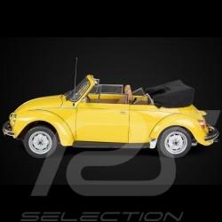 Maquette VW Volkswagen Coccinelle Beetle Käfer / Cox 1303 cabriolet 1976 en métal jaune soleil 1/8 kit sunny yellow sonnengelb