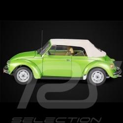 Maquette VW Volkswagen Coccinelle Beetle Käfer / Cox 1303 cabriolet 1976 en métal vert vipère 1/8 kit viper green viperngrünm