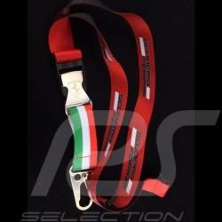 Porte-clés Ferrari lanière rouge