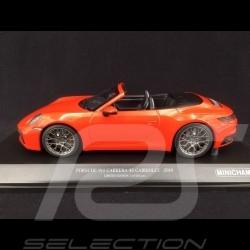 Porsche 911 Type 992 Carrera 4S Cabriolet 2019 Lava Orange 1/18 Minichamps 155067334