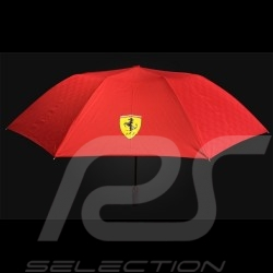 Ferrari Umbrella carbon pattern red