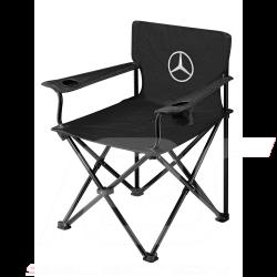 Chaise Mercedes pliante Noir Toile Mercedes-Benz B67871621 Collapsible chair Faltstuhl Black Schwarz