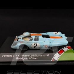 Porsche 917 K n° 2 Gulf Vainqueur Winner Sieger Daytona 1971 finish line 1/43 CMR CMR43003