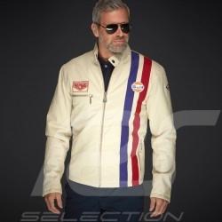 Gulf Jacke Steve Mc Queen Le Mans Roadmaster Baumwolle Beige - Herren