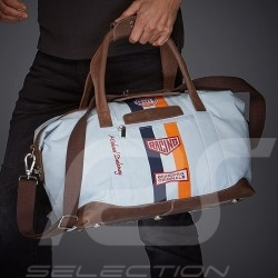 Gulf Travel bag Steve McQueen Le Mans Medium Gulf blue Cotton / leather