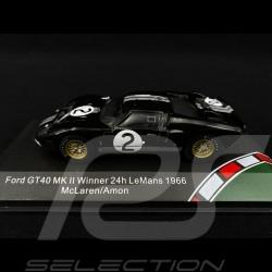 Ford GT40 Mk II n° 2 Winner Le Mans 1966 1/43 CMR CMR43054