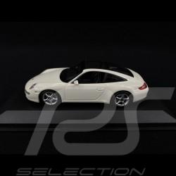 Porsche 911 type 997 Targa 2006 blanc 1/43 Minichamps 940066160