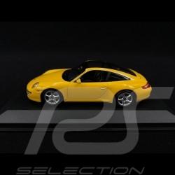 Porsche 911 type 997 Targa 2006 jaune 1/43 Minichamps 940066161