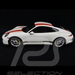 Porsche 911 R typ 991 weiß / rot 1/12 Minichamps 125066320
