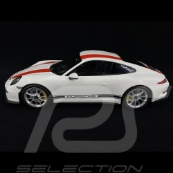 Porsche 911 R type 991 white / red 1/12 Minichamps 125066320