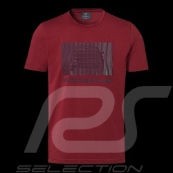 Porsche T-shirt 924 Collection Bordeaux red Porsche Design WAP440L924 - men