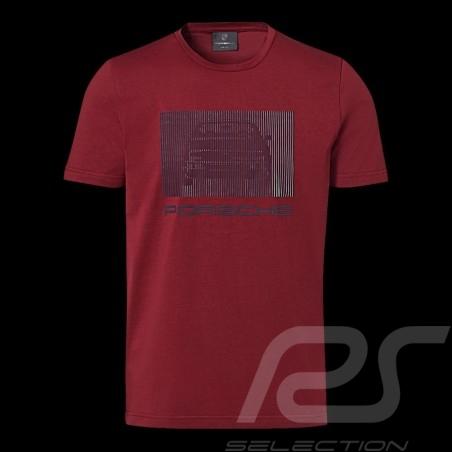 Porsche T-shirt 924 Collection Bordeaux red Porsche Design WAP440L924 - men