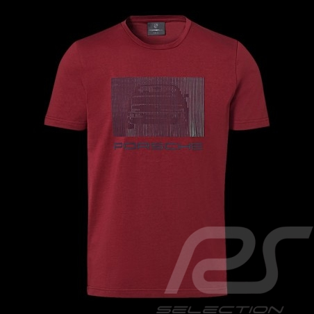 Porsche T-shirt 924 Collection Bordeaux rot Porsche Design WAP440L924 - Herren