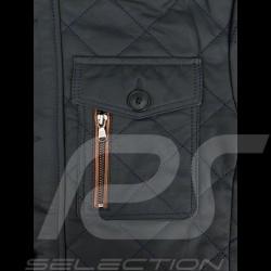 Leather jacket Gentleman driver Miles Quilted Slate grey - men