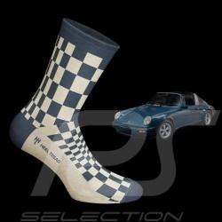 911 Carrera SC Pasha Socken blau / beige - Unisex