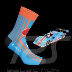 NASCAR n° 43 socks Gulf blue / orange - unisex