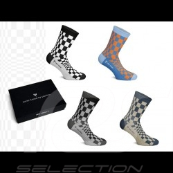 4 pairs Socks Pasha Boxset Porsche patterns - Unisex