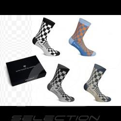 Chaussettes 4 paires Pasha Coffret cadeau Porsche patterns - mixte socks socken
