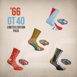 Chaussettes GT40 4 paires Coffret cadeau 24h Le Mans 1966 mixte socks socken boxset