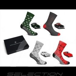 4 pairs Sport Classic Socks Sports cars Heritage Boxset - Unisex