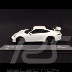 Porsche 911 GT3 Typ 991 2017 blanche white weiß 1/43 Minichamps 410066026