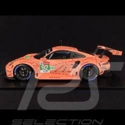 """Porsche 911 RSR type 991 n° 92 """"Cochon rose"""" Vainqueur Winner Sieger Le Mans 2018 1/12 Spark 12S012 Pink Pig Rosa Sau"""