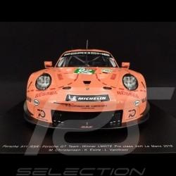 "Porsche 911 RSR type 991 n° 92 ""Pink pig"" Winner Le Mans 2018 1/12 Spark 12S012"