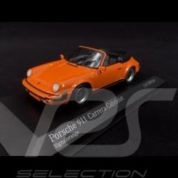 Porsche 911 Carrera Cabriolet 1983 orange 1/43 Minichamps 430062038