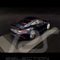 Porsche 911 Type 991 Turbo S blue 1/43 Minichamps 410062220