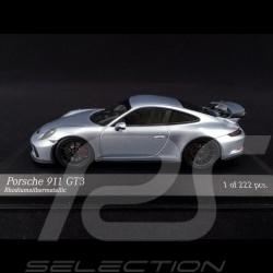 Porsche 911 GT3 Type 991 2017 silver 1/43 Minichamps 413066032