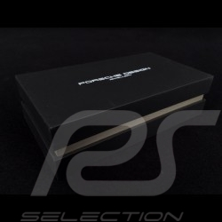 Porsche bracelet double braided black leather Grooves 2.0 Porsche Design