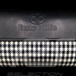 Original Porsche Pepita bag with straps Houndstooth fabric / Black Recaro leather - first aid kit included