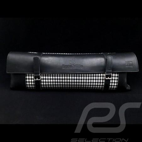 Original Porsche Pepita Tasche mit Riemen Hahnentrittstoff / Schwarzes Recaro Leder  - Erste-Hilfe-Kasten enthalten