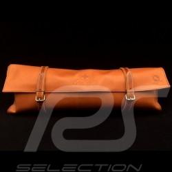 Reutter braun Leder Tasche mit Riemen - Erste-Hilfe-Kasten enthalten