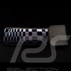 Original Porsche Pascha blau / Schwarzes Recaro Leder Tasche mit Klappe - Erste-Hilfe-Kasten enthalten