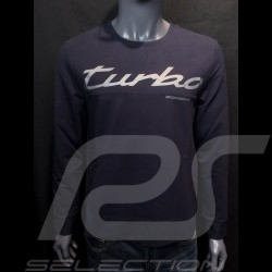 T-shirt Porsche Turbo Collection manches longues Bleu marine Porsche 991 Turbo S WAP218LTRB long sleeves lange armel