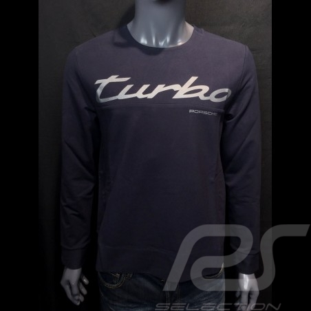 T-shirt Porsche Turbo Collection manches longues Bleu marine Porsche 991 Turbo S WAP218LTRB long sleeves lange armel