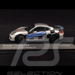 Porsche Cayman GT4 Spielwarenmesse 2017 grau 1/43 Minichamps 413066193