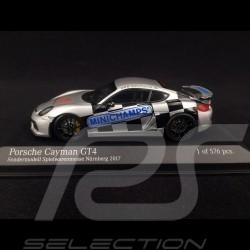 Porsche Cayman GT4 Spielwarenmesse 2017 grise grey grau 1/43 Minichamps 413066193