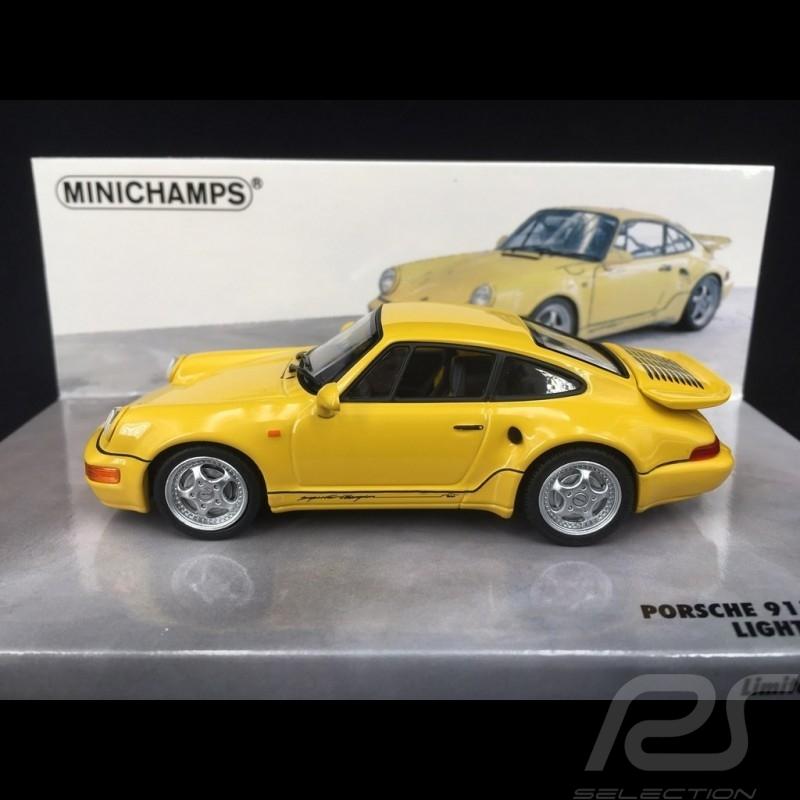 Porsche 911 964 Turbo S 3.3 lightweight 1992 jaune 1/43 Minichamps 436069170