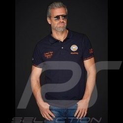 Gulf Racing Laguna Seca Corkscrew Polo Marineblau / orange - Herren