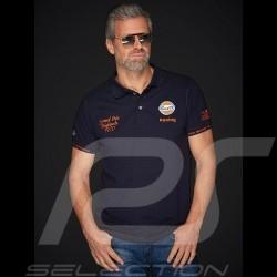 Polo Gulf Racing Laguna Seca Corkscrew bleu marine / orange navy blue shirt marineblau poloshirt  homme men herren