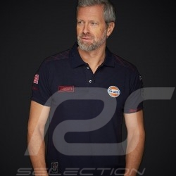 Gulf Racing Steve McQueen Le Mans n° 50 Polo Navy blue - men
