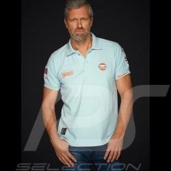 Polo Gulf Racing Steve McQueen Le Mans n° 50 bleu Gulf blue blauhomme