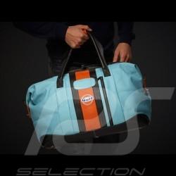 Gulf Racing Travel bag leather blue / orange / black