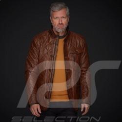 Veste cuir Gentleman driver Miles Matelassée Brun Leather jacket Lederjacke homme