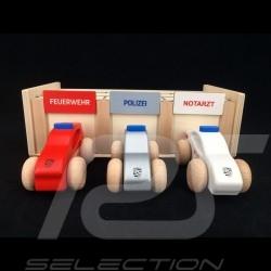 Porsche Garage aus Holz mit 3 Autos Feuerwehr / Polizei / Krankenwagen Porsche WAP0400020L0EF