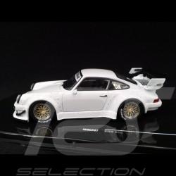 Porsche 911 Turbo type 930 RWB Rauh-Welt Begriff Blanc White Weiß 1/43 Ixo MOC207